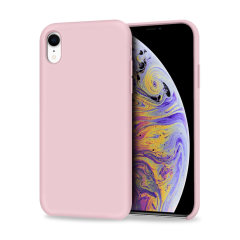 Custom moulded for the iPhone XR, this pastel pink soft silicone case from Olixar provides excellent protection against damage as well as a slimline fit for added convenience.
