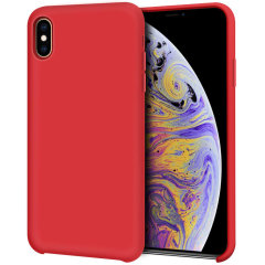 Custom moulded for the iPhone XS Max, this red soft silicone case from Olixar provides excellent protection against damage as well as a slimline fit for added convenience.