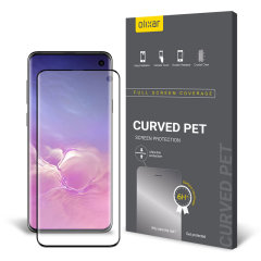 Keep your Samsung Galaxy S10's screen in pristine condition with this Olixar PET scratch-resistant screen protector.