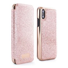 Ever wanted to check how you're looking on the go? With the Ted Baker Glitsie Mirror Folio case for iPhone XS / X, you can do just that thanks to a concealed mirror on the inside of the case's flip cover.