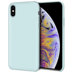Olixar iPhone XS Soft Silicone Case - Pastel Green