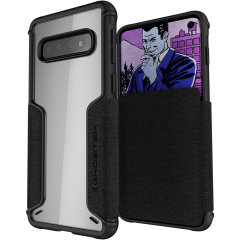 The Exec3 premium wallet case in black provides your Samsung Galaxy S10 with fantastic protection. Also featuring storage slots for your credit cards, ID and cash.