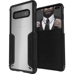 The Exec3 premium wallet case in black provides your Samsung Galaxy S10 Plus with fantastic protection. Also featuring storage slots for your credit cards, ID and cash.
