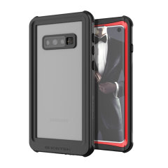 Shield your precious Samsung Galaxy S10e on both land and at sea with the extremely tough, yet incredibly stylish Nautical Series Waterproof case from Ghostek in red. Protecting your S10e from depths of up to 1 meter for up to 30 minutes.