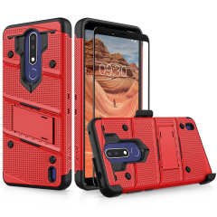 Equip your Nokia 3.1 Plus with military-grade protection and superb functionality with the ultra-rugged Bolt case in Red & Black from Zizo. Coming complete with a handy belt clip and integrated kickstand.