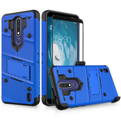 Equip your Nokia 3.1 Plus with military-grade protection and superb functionality with the ultra-rugged Bolt case in Blue and Black from Zizo. Coming complete with a handy belt clip and integrated kickstand.