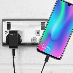 Charge your Huawei Honor 10 Lite quickly and conveniently with this compatible 2.5A high power charging kit. Featuring mains adapter and USB cable.