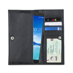 Crafted from premium quality genuine leather, with precision stitching and stud closure, and featuring a luxurious soft lining, document pockets and card slots, the Primo Wallet for the Alcatel 7 will protect your phone in style.