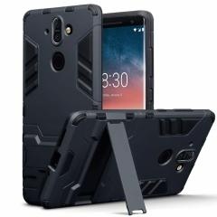 Protect your Nokia 8 Sirocco from bumps and scrapes with this black dual layer armour case from Olixar. Comprised of an inner TPU section and an outer impact-resistant exoskeleton, with a built-in viewing stand.