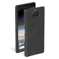 The Krusell Sunne Cover Case for the Sony Xperia 10 in Vintage Black has a slim design and is made with genuine leather folded around the phone. Allowing you to easily store your cards into your phone easily whilst providing protection & being bulk-free.