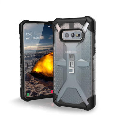 The Urban Armour Gear Plasma for the Samsung Galaxy S10e features a protective TPU case in ice grey with a brushed metal UAG logo insert for an amazing design and excellent protection from scrapes, bumps, and scratches.