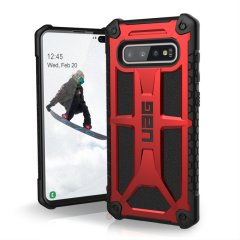 The Urban Armour Gear Monarch in Crimson for the Samsung Galaxy S10 Plus is quite possibly the king of protective cases. With 5 layers of premium protection and the finest materials, your Galaxy S10 Plus is safe, secure and in some style too.