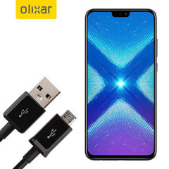 This 1 meter data / charging cable from Olixar allows you to connect your Huawei Honor 8X to a PC via Micro USB. It supports charging currents over 2 amps, so your Honor 8X Max can be up and running from flat in no time.