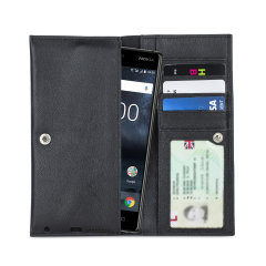 Crafted from premium quality genuine leather, with precision stitching and stud closure, and featuring a luxurious soft lining, document pockets and card slots, the Primo Wallet for the Nokia 3 will protect your phone in style.