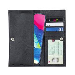 Olixar Primo Genuine Leather Samsung Galaxy M10 Wallet Case - Black