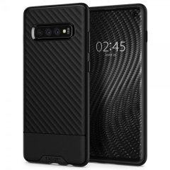 The Spigen Spigen Core Armor in black is a TPU lightweight protective case. Spigen's flexible and elastic material reduces the thickness of the case while providing shock absorption and a comfortable grip for your Samsung Galaxy S10 Plus Case