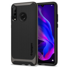 The Spigen Neo Hybrid in gunmetal grey is the new leader in lightweight protective cases. The new Air Cushion Technology corners reduce the thickness of the case while providing optimal protection for your Huawei P30 Lite.