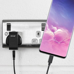 Charge your Samsung Galaxy S10 and any other USB device quickly and conveniently with this compatible 2.5A high power USB-C UK charging kit. Featuring a UK wall adapter and a 1m USB-C cable.