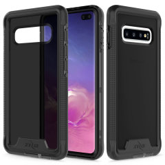 The Protective Ion series for the Samsung Galaxy S10 Plus. The black finish gives you protection for your phone in style. This case is made for pure luxury and style.