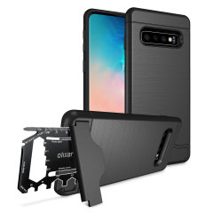 Prepare your Samsung Galaxy S10 Plus for the great outdoors with the rugged X-Ranger case. With a handy kickstand and a secure compartment for the included multi-tool - or the card of your choice - you'll be ready for anything.