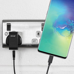 Charge your Samsung Galaxy S10 Plus and any other USB device quickly and conveniently with this compatible 2.5A high power USB-C UK charging kit. Featuring a UK wall adapter and 1m USB-C cable.
