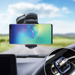 Hold your phone safely in your car with this fully adjustable DriveTime car holder for your Samsung Galaxy S10 Plus.