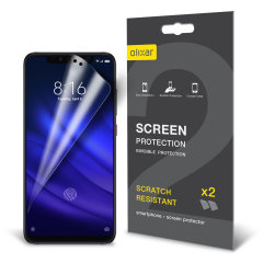 Keep your Xiaomi Mi 8 Pro's screen in pristine condition with this Olixar scratch-resistant screen protector 2-in-1 pack.