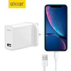 Charge your iPhone XR and any other USB device quickly and conveniently with this compatible 2.5A high power Lightning charging kit. Featuring a UK wall adapter and a 1m Lightning cable.