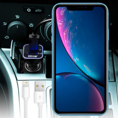 Keep your Apple iPhone XR fully charged on the road with this high power dual USB 3.1A Car Charger with an included high quality 1m Lightning cable