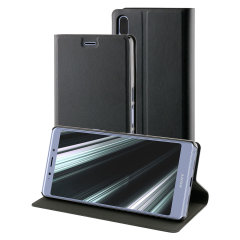 This officially licensed black standing book case by Roxfit houses the Sony Xperia L3 within a form-fitting frame, which includes an ultra-high quality protective shell and a super-slim PU front flap. Also comes with a handy horizontal stand function.