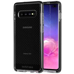 Tech21 Evo Check Samsung Galaxy S10 Plus Case - Smokey / Black