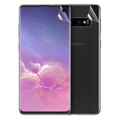 Houd uw Samsung Galaxy S10 helemaal in perfecte staat met dit Olixar krasbestendige TPU-schermbeschermer met volledige dekking 2-in-1. Beschikt over 2 in elkaar grijpende schermbeschermers die de achterkant en voorkant van uw telefoon volledig bedekken.