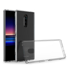 Custom moulded for the Sony Xperia 1, this crystal clear Olixar ExoShield tough case provides a slim fitting, stylish design and reinforced corner protection against shock damage, keeping your device looking great at all times.