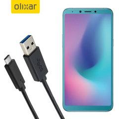 Zorg ervoor dat uw Samsung Galaxy A6s altijd volledig is opgeladen en gesynchroniseerd met deze compatibele USB 3.1 Type-C Male naar USB 3.0 mannelijke kabel. U kunt deze kabel gebruiken met een USB-wandlader of via uw desktop of laptop.