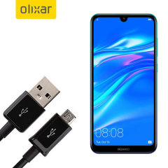 This 1 meter data / charging cable from Olixar allows you to connect your Huawei Y7 Pro 2019 to a PC via Micro USB. It supports charging currents over 2 amps, so your Huawei Y7 Pro 2019 can be up and running from flat in no time.