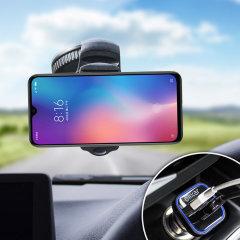 Houd je telefoon veilig in je auto met deze volledig verstelbare DriveTime-autohouder voor je Xiaomi Mi 9 SE.