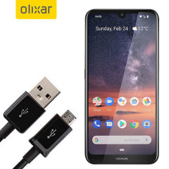 This 1 meter data / charging cable from Olixar allows you to connect your Nokia 3.2 to a PC via Micro USB. It supports charging currents over 2 amps, so your Nokia 3.2 can be up and running from flat in no time.