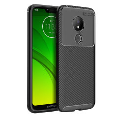 Olixar Carbon Fibre Moto G7 Power Case - Black