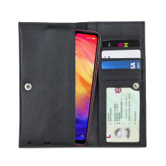 Crafted from premium quality genuine leather, with precision stitching and stud closure, and featuring a luxurious soft lining, document pockets and card slots, the Primo Wallet for the Xiaomi Redmi Note 7 Pro will protect your phone in style.