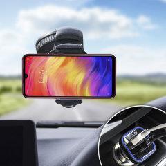 Houd je telefoon veilig in je auto met deze volledig verstelbare DriveTime-autohouder voor je Xiaomi Redmi Note 7 Pro.