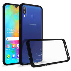 Custom moulded for the Samsung Galaxy M20. This black Olixar ExoShield tough case provides a slim fitting stylish design and reinforced corner shock protection against damage, keeping your device looking great at all times.