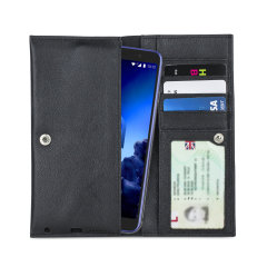 Crafted from premium quality genuine leather, with precision stitching and stud closure, and featuring a luxurious soft lining, document pockets and card slots, the Primo Wallet for the Alcatel 1x 2019 will protect your phone in style.