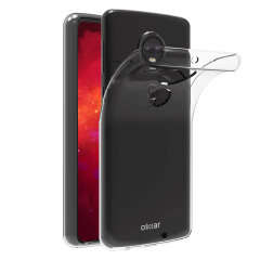 Custom moulded for the Motorola Moto G7 Plus this clear FlexiShield case by Olixar provides slim fitting and durable protection against damage.