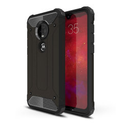 Protect your Motorola Moto G7 Plus from bumps and scrapes with this black Delta Armour Protective case from Olixar. Comprised of an inner TPU section and an outer impact-resistant exoskeleton.