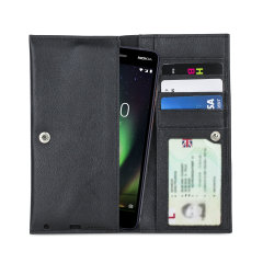 Crafted from premium quality genuine leather, with precision stitching and stud closure, and featuring a luxurious soft lining, document pockets and card slots, the Primo Wallet for the Nokia 2 V will protect your phone in style.