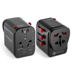 The sophisticated muli-regional travel adapter compatible with most international sockets. Perfect for frequent for when you are traveling or on the go. Stay charged and connected in any corner of the world.