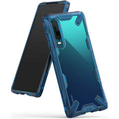 Keep your Huawei P30 protected from bumps and drops with the Rearth Ringke Fusion X tough case in blue. Featuring a 2-part, Polycarbonate design, this case lives up to military drop test standards so you can rest assured that your device is safe