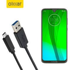 Zorg ervoor dat uw Motorola Moto G7 Plus altijd volledig is opgeladen en gesynchroniseerd met deze compatibele USB 3.1 Type-C Male naar USB 3.0 mannelijke kabel. U kunt deze kabel gebruiken met een USB-wandlader of via uw desktop of laptop.