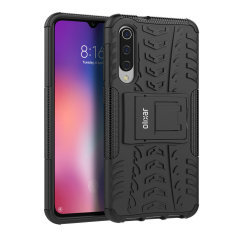 Protect your Xiaomi Mi 9 from bumps and scrapes with this black ArmourDillo case from Olixar. Comprised of an inner TPU case and an outer impact-resistant exoskeleton, with a built-in viewing stand.