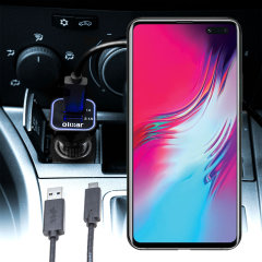 Keep your Samsung Galaxy S10 5G fully charged on the road with this compatible Olixar high power dual USB 3.1A Car Charger with an included high quality  1m USB to USB-C charging cable.